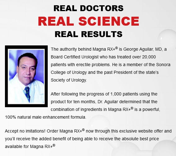 magna rx+ doctor Aguilar's endorsed